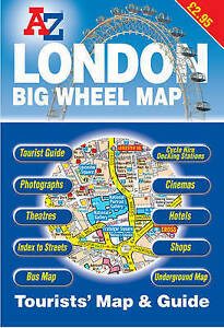 Visitors Map Of London.Details About London Big Wheel Map Visitors Map Geographers A Z Map Company Excellent Book