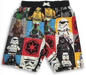 New Lego Star Wars Swim Trunk Shorts For Boys Size X Small 4 5 Ebay