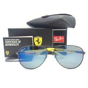 657e98859f7 Ray-Ban RB8313M F003 H0 Ferrari Gunmetal Yellow Sunglasses Blue ...