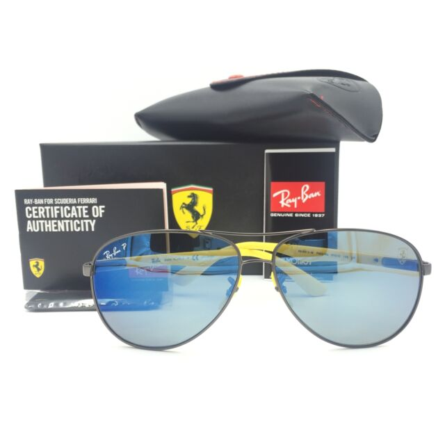 45dc043dad Ray-Ban RB8313M F003 H0 Ferrari Gunmetal Yellow Sunglasses Blue Chromance  Lens