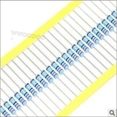 500Pcs 1//4W Watt 2.2K Ohm 2.2KOHM Metal Film Resistor 0.25W 2200R 1/% qm