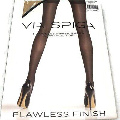 VIA SPIGA Flawless Finish Sheer Control Top Nude Panty