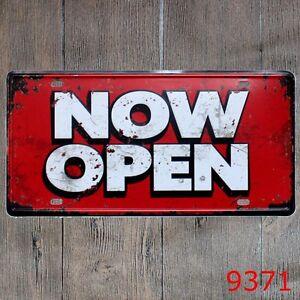 Metal Tin Sign open to the public Decor Bar Pub Home Vintage Retro Poster Cafe
