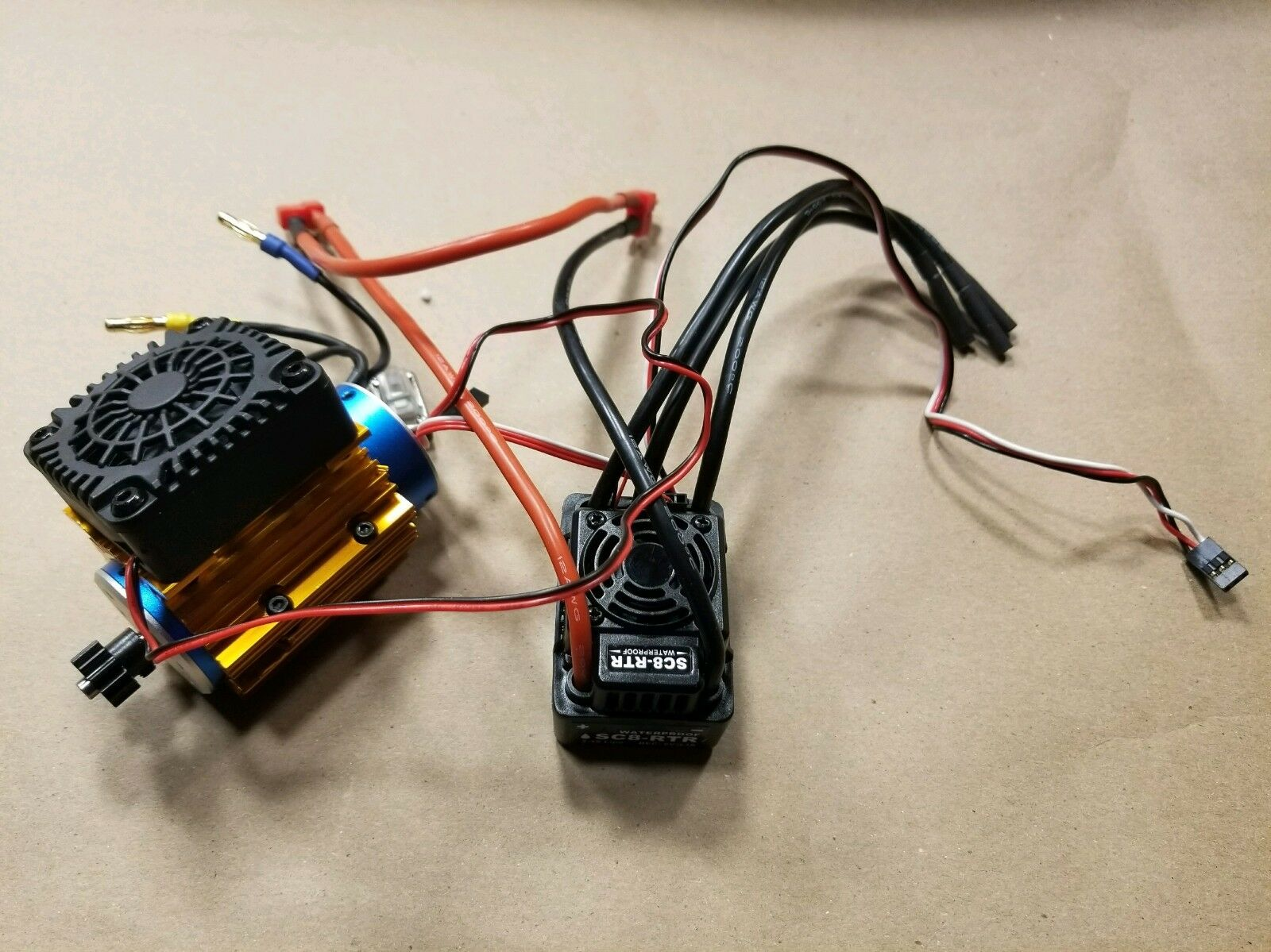 NEW Brushless motor (2030kv) 120A waterproof ESC DHK TRAXXAS VXL