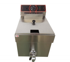 2500w Electric Deep Fryer 8l Commercial Stainless Steel Restaurant With Fry Basket