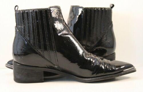 Marc Fisher Black Patent Leather Lyommi Chelsea Bo
