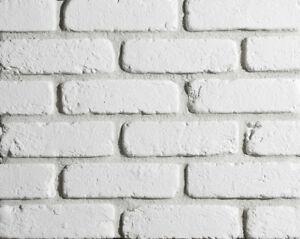 Brick Slips Tiles Loft White - 3D Plaster Tiles, Feature Wall Decorative Brick