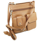 Genuine Leather Mini Purse Organizer Crossbody Shoulder Travel Bag More Colors