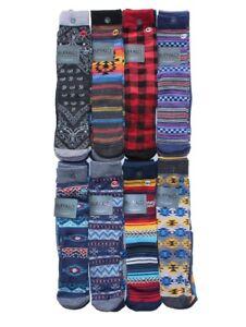 New-Buffalo-David-Bitton-Men-039-s-3-pairs-Premium-Fashion-Crew-Socks-size-10-13