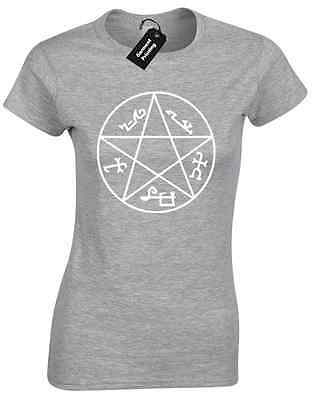 DEVILS TRAP LADIES T SHIRT WINCHESTER BROTHERS SUPERNATURAL BOBBY DEAN SAM GIFT
