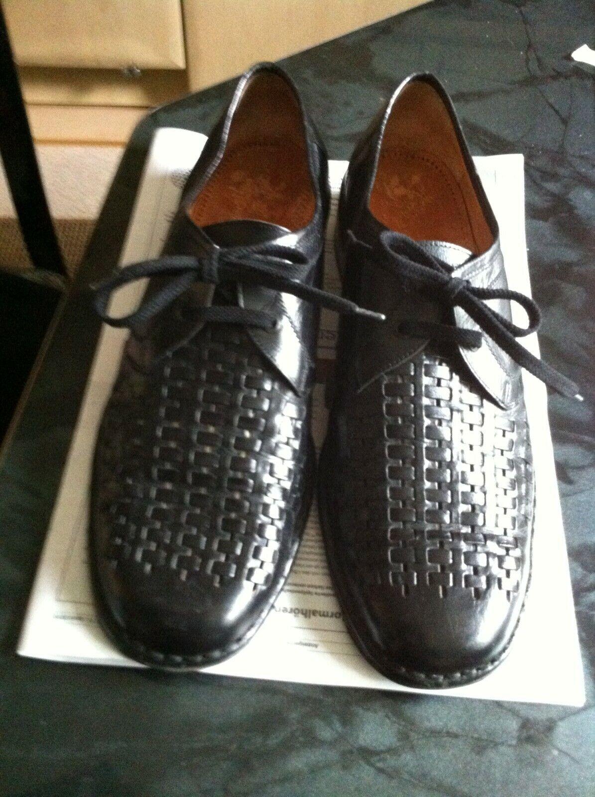 Herren Leder Schuhe Schwarz Gr. 47