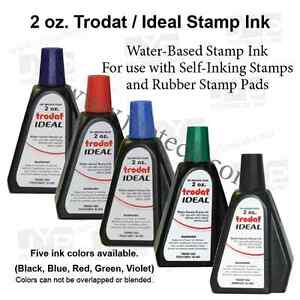 2 oz trodat ideal rubber stamp refill ink for stamps or stamp pads