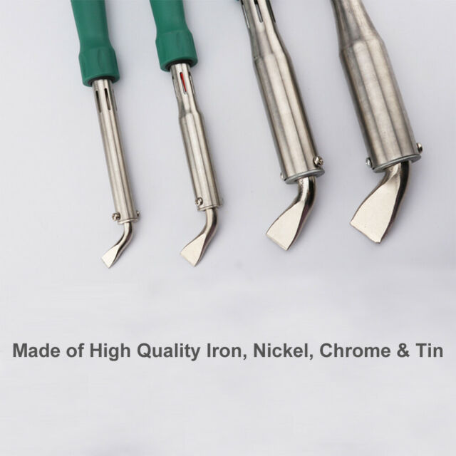 220V Heavy Duty High Power Electric Soldering Iron Chisel Tip Wood Han  ij