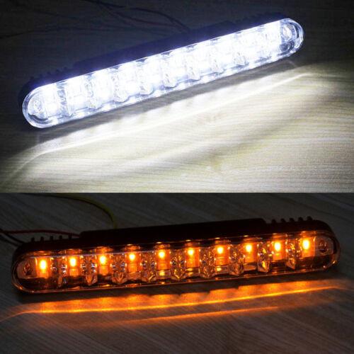 For Toyota 2pcs 30LED Car Daylight Running Light DRL Daytime Lamp w// Turn Light
