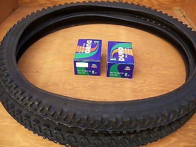 MTB CRUISER 2 TRICYCLE 2 TUBES 26/'/' X 1.95 BLACK MOUNTAIN BIKE TIRES /&