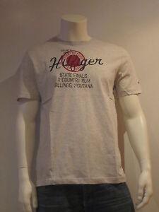 Tommy-HILFIGER-MONTANO-ss-the-taille-M-t-shirt-hommes-print-shirt-Gris-Nouveau-amp-OVP