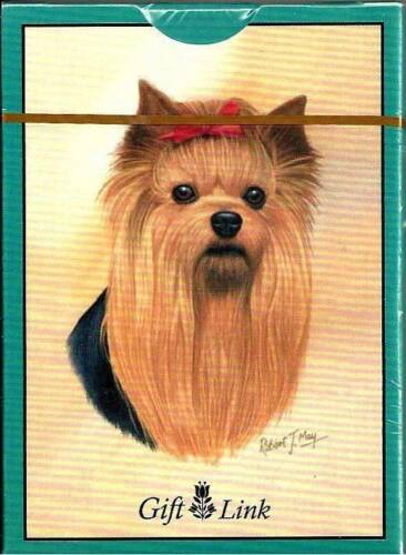 Giftlink Playing Cards Sealed Deck Yorkie Yorkshire Terrier Dog 2006 Artist May