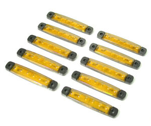 8x 4 Led Weiß Seitliche Begrenzungsleuchte Umriss 24V Lampe Lkw Anhänger