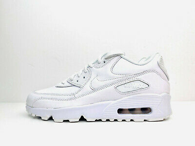 Nike Air Max 90 Leather GS Trainers Shoes White UK 4 EUR 36.5 US 4.5Y 833412 100   eBay