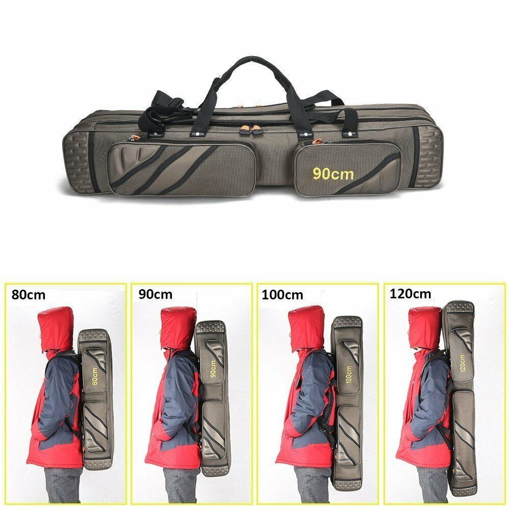 3 Layer Fishing Bag Rod  Reel Case Carrier Holder Fishing Pole Storage Bags Case  the newest brands outlet online