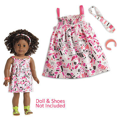 Fit For 18/'/' American Girl Doll Accessory New Pink Mirror Truly Me School Locker