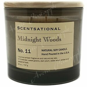 Scentsational-Natural-Soy-Candle-26oz-Triple-Wick-Wood-Lid-No-11-Midnight-Woods