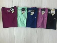 NEW UNDER ARMOUR WOMEN/'S FITTED  HEAT GEAR CREW NECK S//S SZ XS//S//M//L//XL NWT