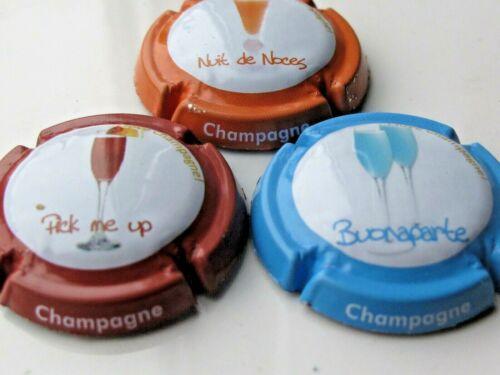 Série de 3  capsules de champagne générique LES COCKTAILS n°906 à 906b