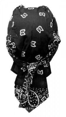 Coraggioso Bandana Panno Nero Bianco Paisley-mostra Il Titolo Originale