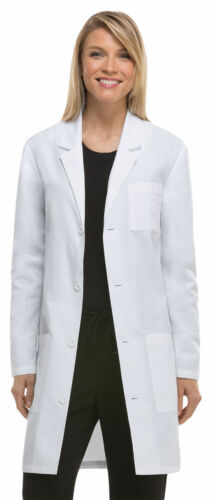 83402AB Dickies Adult Long Sleeve Button Front Back Waist Belt Lab Coat