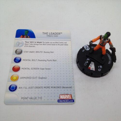 Heroclix Incredible Hulk set The Leader #209 Gravity Feed figure w//card!