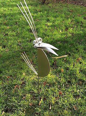 Garten Skulptur 120cm V2A Edelstahl Vogel