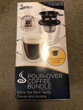 Java Concepts Pour over Filter and 2 Double-Wall Glass Mugs