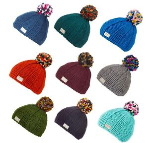 3b7a7ac6 Details about Kusan 100% Wool Bobble Beanie Hat In A Choice of Colours  PK1524/1724/1824