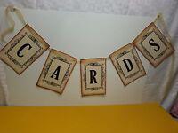 Cards Banner Vintage Economic Suitcase Decoration Reception Table Chic Wedding