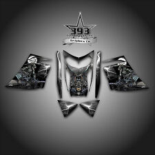 SKI-DOO REV MXZ SNOWMOBILE SLED WRAP GRAPHICS DECAL 03-07 GUARDIAN BLACK