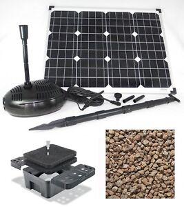 50 watt solare stagno pompa filtro immersione stagno da for Stagno da giardino
