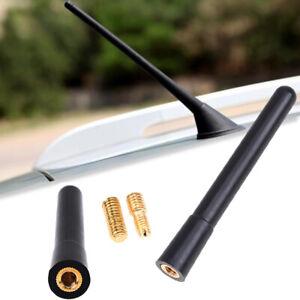 4-034-Short-Stubby-Black-Car-Antenna-AM-FM-Radio-Aerial-Mast-Screw-Type-Universal