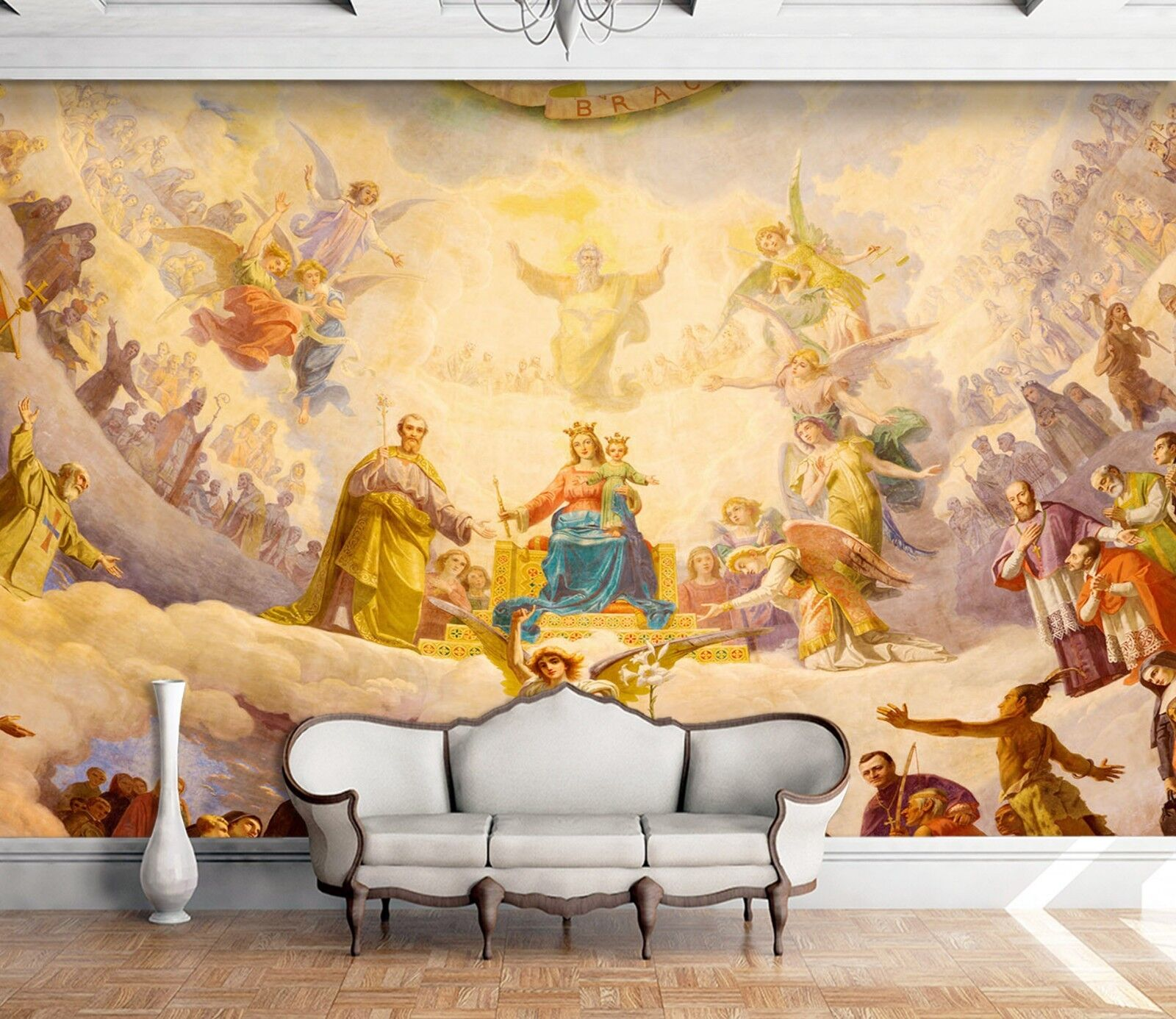 3D Palaces Many Angels 5 Wall Paper wall Print Decal Wall Deco Indoor wall Mural