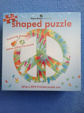 PEACE SIGN Tie Dye Shaped Puzzle 500 Pieces Paper House Productions NEW Sealed