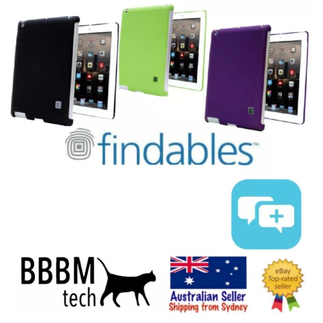 Findables QR Code ID Case for Apple iPad 2/3/4 Smart Shell- Purple,Black,Green