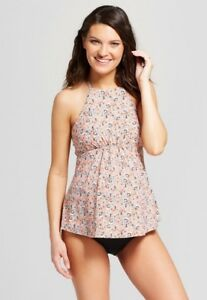 95dc12101cb9d SEA ANGEL Maternity Floral High Neck Top & Ruched Swim Skirt Bottom ...
