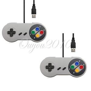 2x-Classic-USB-Joypad-joystick-Gamepad-Gaming-Controller-For-Window-PC-MAC-SNES