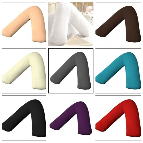 NEW V SHAPE PILLOW ORTHOPEDIC/MATERNITY/PREGNANCY/NURSING Support with free Case