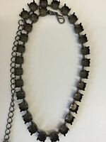 39ss Empty Cup Chain Necklace - Hematite -