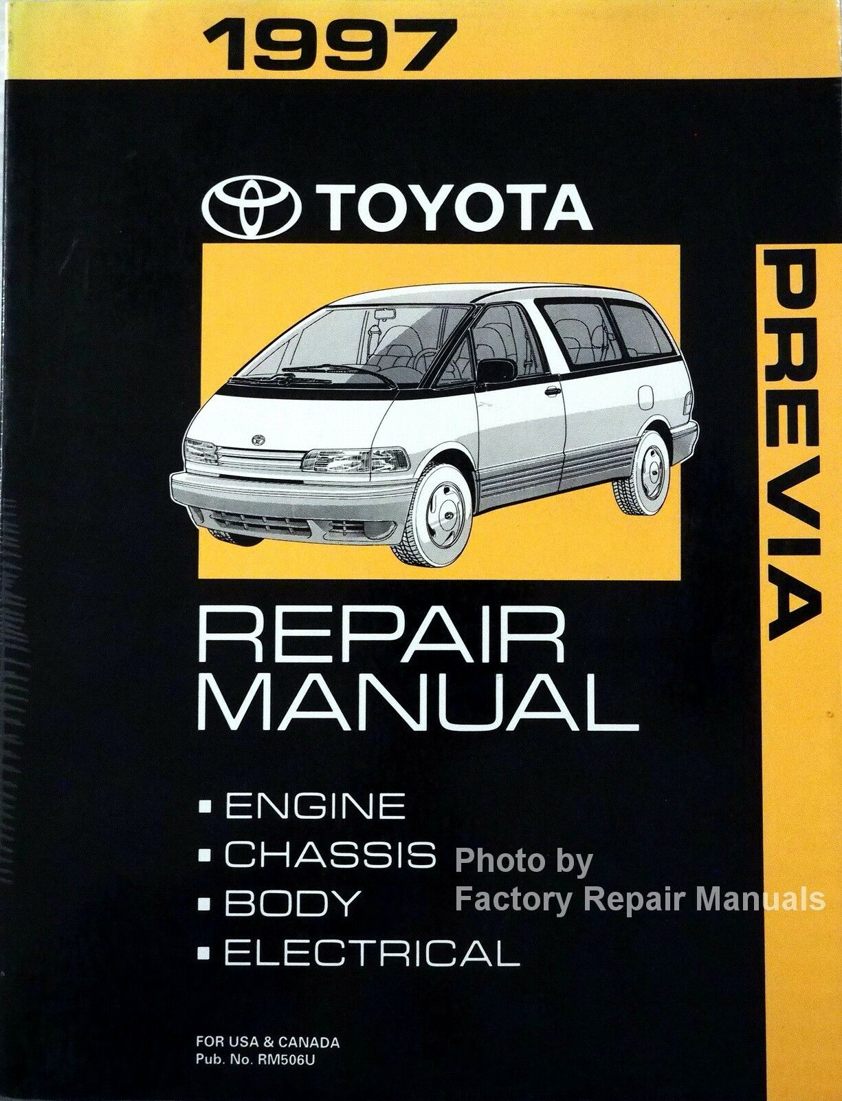1997 Toyota Previa Mini-Van Factory Service Manual Original Shop Repair Book