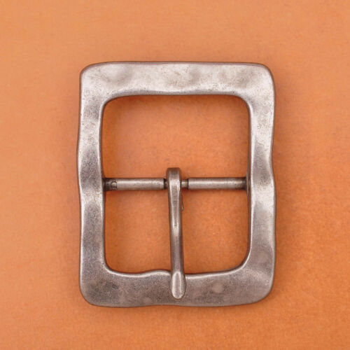 """Heavy Duty Solid Antique Silver Center Bar Belt Buckle Fits 1-1//2/"""" Leather Belts"""