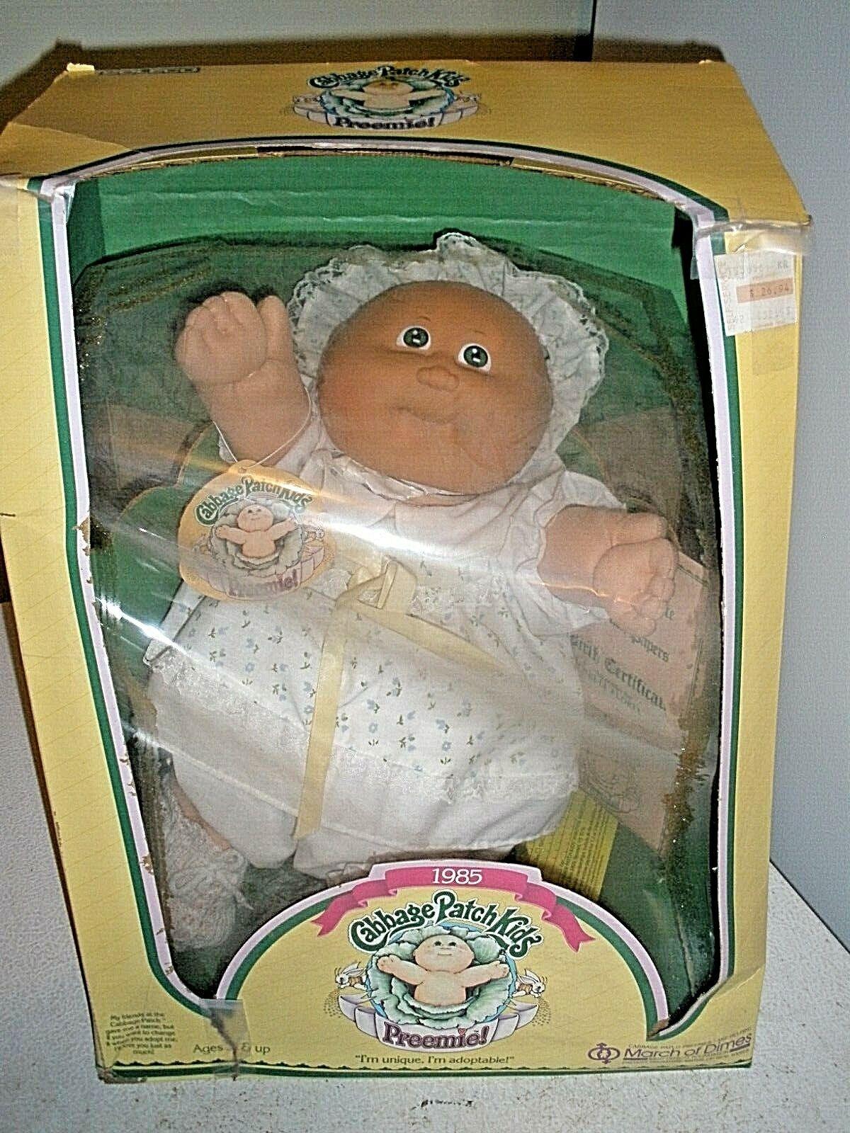 Nuevo En Caja niña prematura Cabbage Patch Kids 1985 March of Dimes Nelli Floria (H)