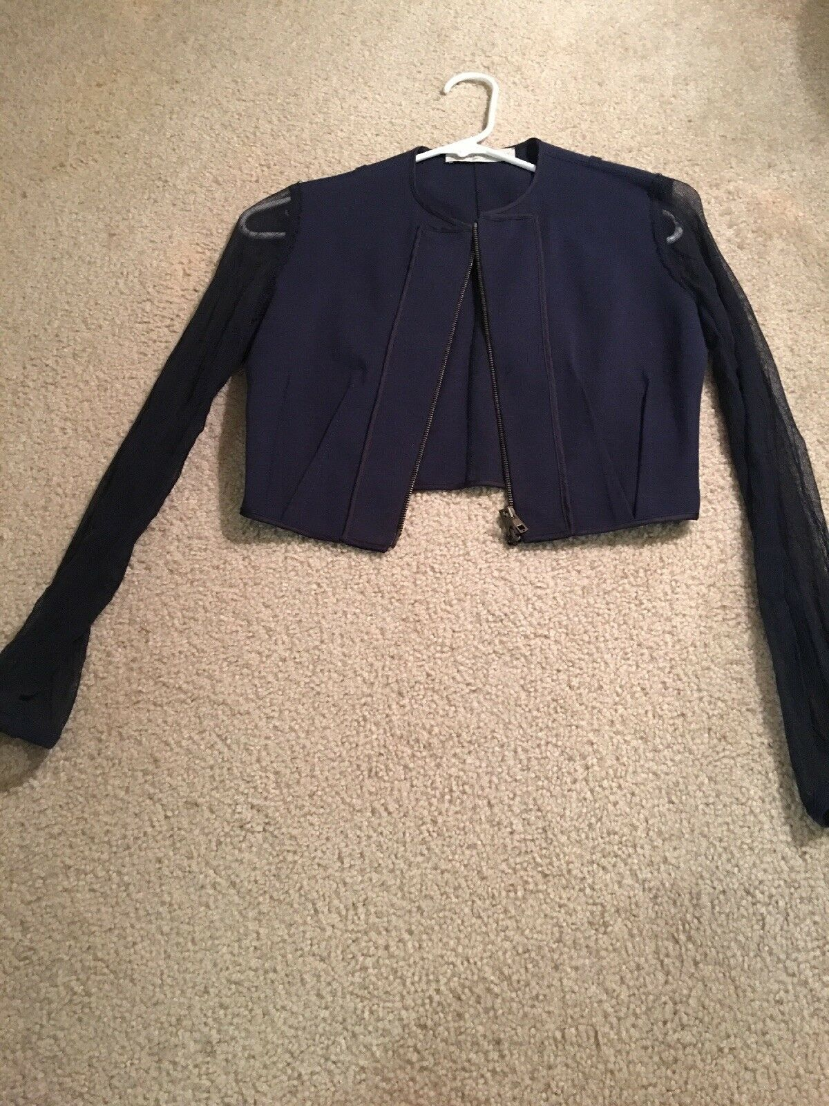 Stella McCartney Navy Blau top (Größe 38) pre-owned