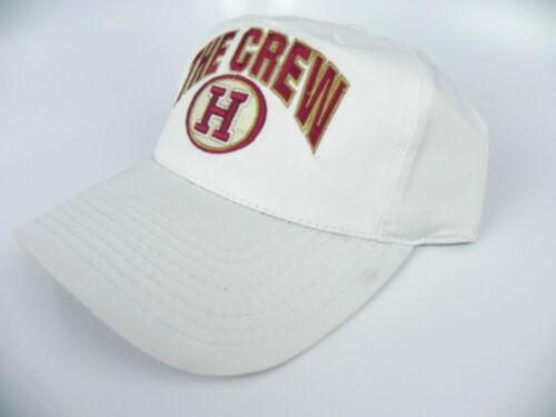 HARVARD CRIMSON THE CREW NCAA VINTAGE WHITE SNAPBACK RETRO CAP HAT NWT!